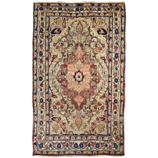 Antique Persian Kirman Lavar Rug - Image 1 of 3