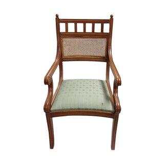 Vintage Armchair with Rattan Back