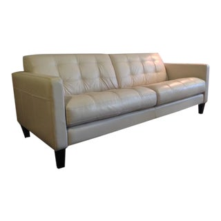 Contemporary Italian Leather Sofa