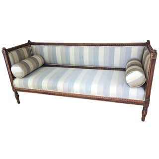 Very Long Swedish Carved Wood Gustavian Sofa