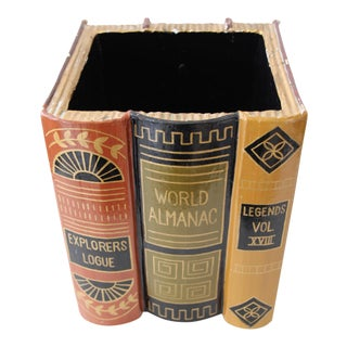 Paper Mache Faux Book Decorative Box