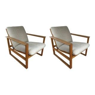 Børge Mogensen Oak Lounge Chairs - A Pair