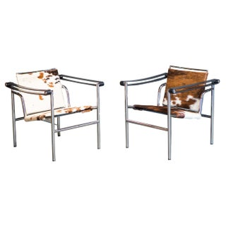 DWR Cowhide LC1 Sling Chairs - A Pair