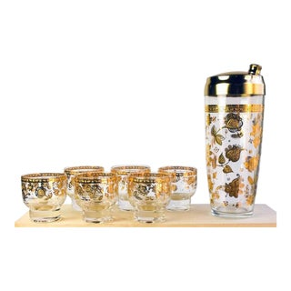 Vintage Culver Chantilly Pattern Forty Piece Glass Drinks Set, 1950-1960s