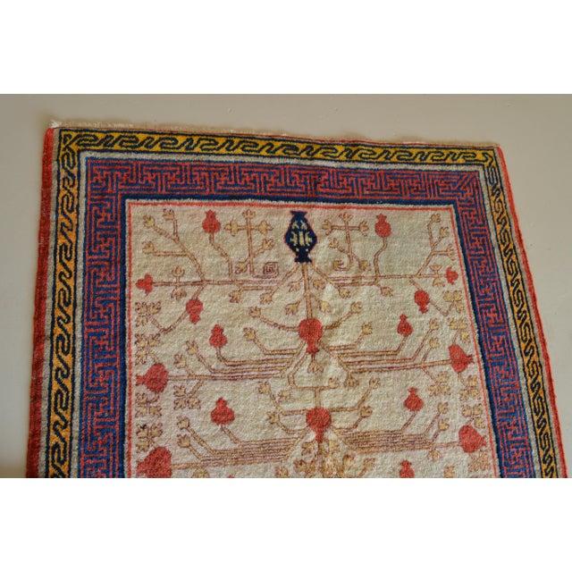 "Antique Khotan Oriental Rug- 3'9"" X 6'3"" - Image 3 of 7"