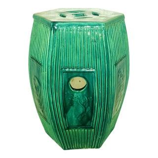 Chinese Green Ceramic Garden Stool