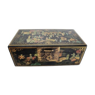 Asian Hand Painted Rectangalar Box