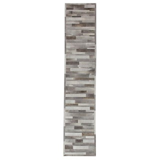 "Cowhide, Hand Woven Runner Rug - 2' 6"" x 12' 0"""