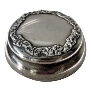 Antique Sterling Silver English Pill Box (Hallmarked)