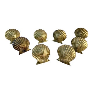 Brass Shell Form Napkin Rings - Set of 8