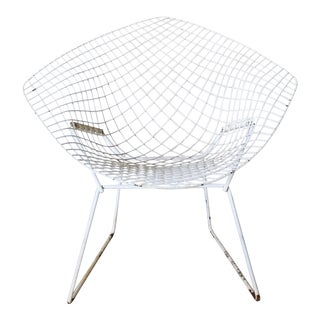 White Bertoia Diamond Chair by Knoll