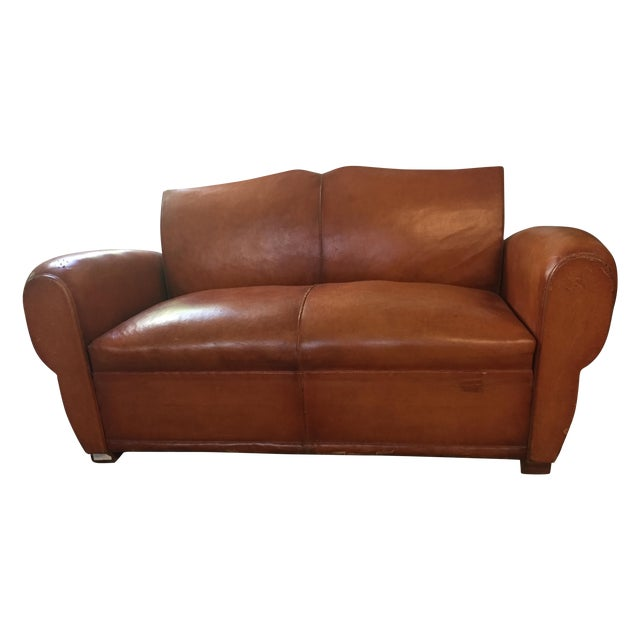Brown Leather Sleeper Sofa Victor Premium