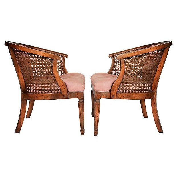 Tufted Pink Accent Chairs Pair Chairish