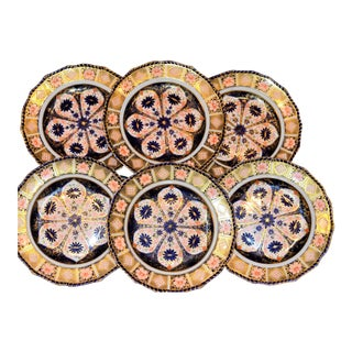 Royal Crown Derby Imari Rope Edge Plates - Set of 6