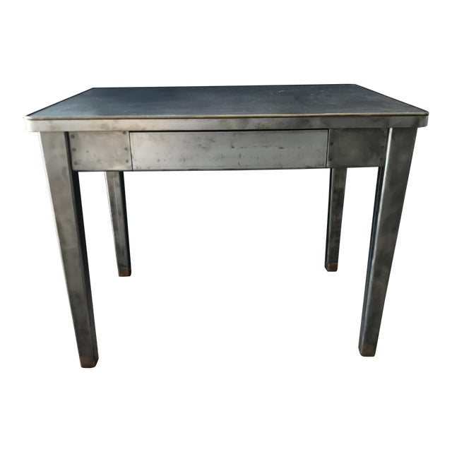 Vintage Industrial Metal Desk - Image 1 of 8