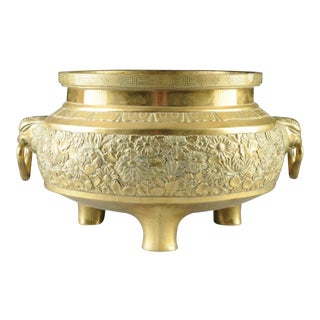 Chinese Two-Handled Bronze Jardinere