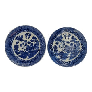 Blue Willow Japan Plates - A Pair