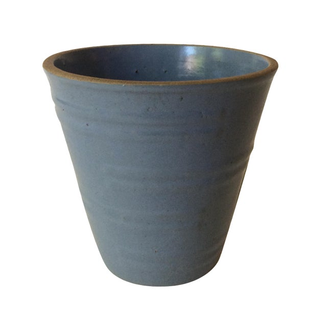 Machine Age Blue-Grey Flower Pot - Image 1 of 11