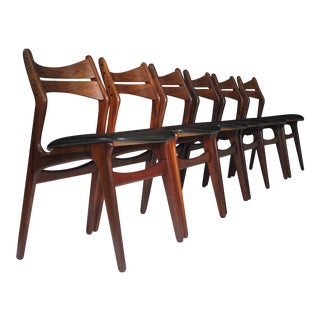 6 Erik Buck Danish Rosewood Dining Chairs