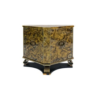 Antique Bronze Mirrored Cabinet