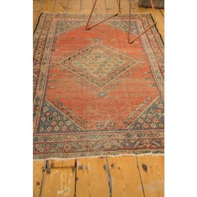 "Antique Fereghan Rug - 3'7"" X 6'1"" - Image 8 of 8"