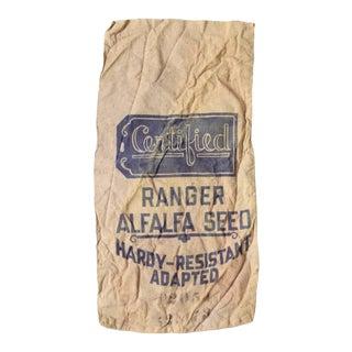 Vintage Seed Sack Bag