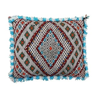 Moroccan Berber Blue & Green Pillow Cover
