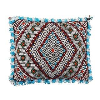 Moroccan Berber Blue & Green Pillow Cover