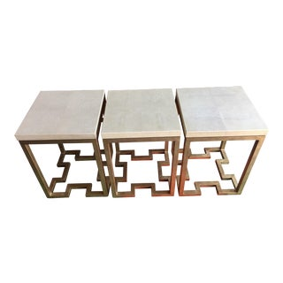 Neoclassical 'Sand Dollar' Accent Tables - Set of 3
