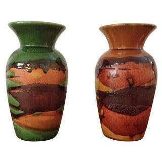 Royal Haeger Earth Wrap Vases - A Pair