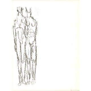 Rodolphe Raoul Ubac, Deux Personnages, 1966 Lithograph