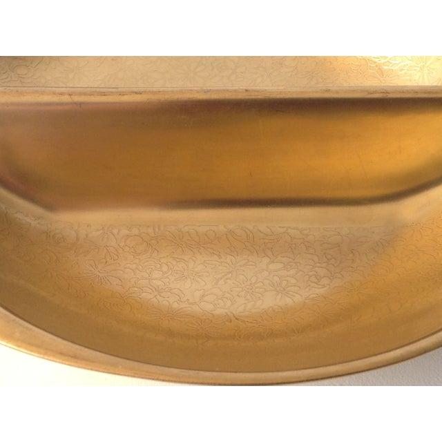 Pickard 24k Gold Divided Floral Motif Dish - Image 8 of 11
