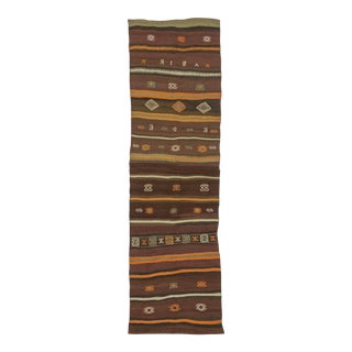 Vintage Turkish Kilim Runner - 2′7″ × 9′3″