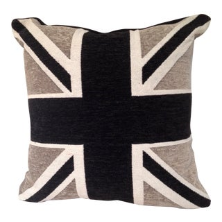 Chenille Union Jack Pillow