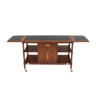 Mid Century Modern Drop Leaf Server Cart