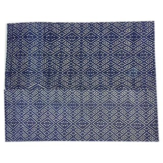 Hill Tribe Blue & White Dowry Wedding Quilt