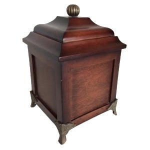 Footed  Wood Box with Finial