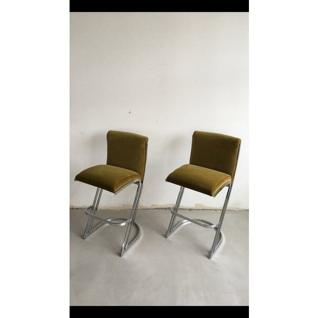 1970's Pierre Cardin Bar Stools - A Pair - Image 2 of 6