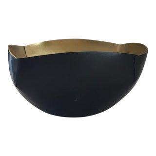 Black & Gold Metal Bowl