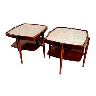 Mid-Century Bertha Schaeffer End Tables - A Pair