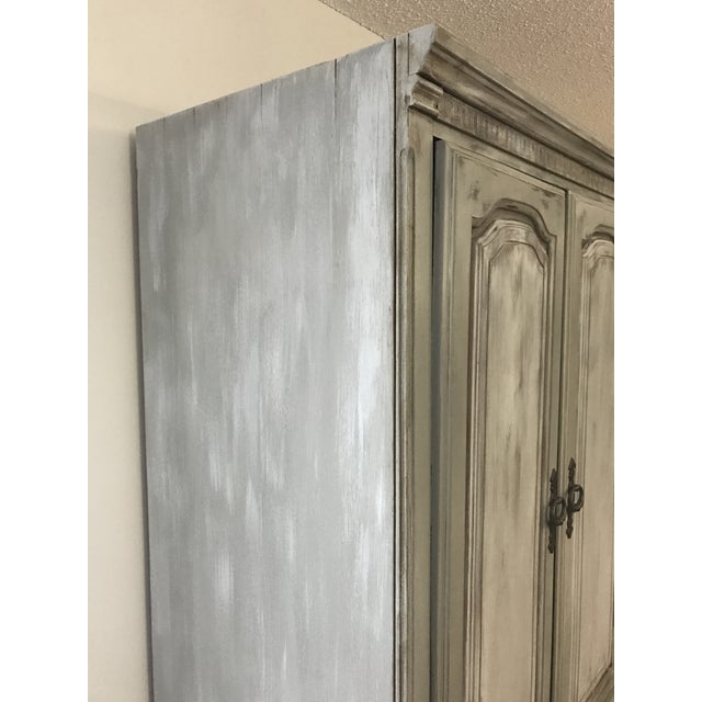 Distressed Shabby Chic Armoire - Image 9 of 11