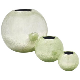 "Alberto Dona ""Pulegoso"" Murano Glass Vases- Set of 3"