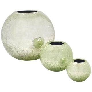 "Alberto Dona ""Pulegoso"" Murano Glass Vases- Set of 3"