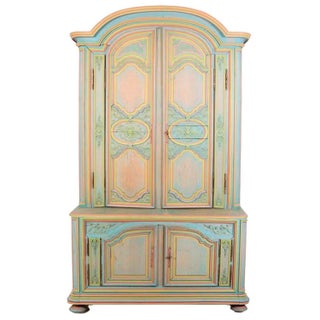 French Provincial Multicolor Armoire