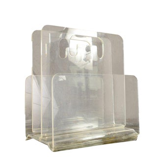 Lucite Magazine Holder After Charles Hollis Jones
