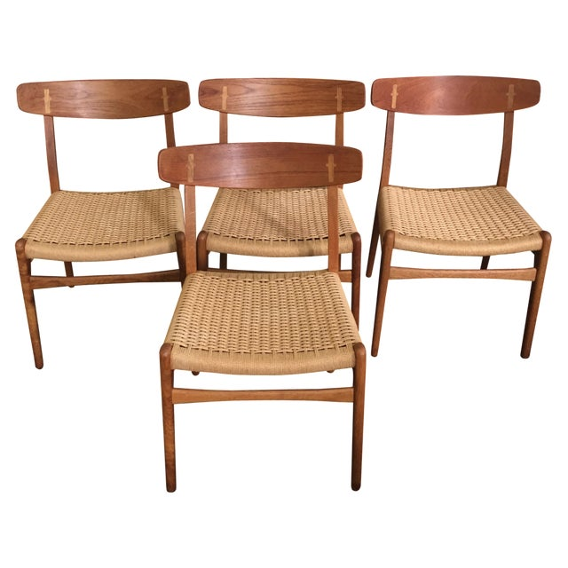 Hans Wegner CH-23 Dining Chairs - Set of 4 - Image 1 of 9