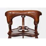 Image of Vintage Studio Sculptural Carved Walnut Bar Cart