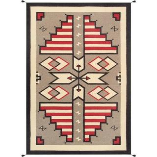 "Navajo Hand-Woven Area Rug - 6' X 8'11"""