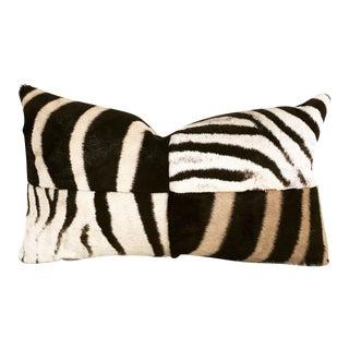 Zebra Hide Patchwork Pillow