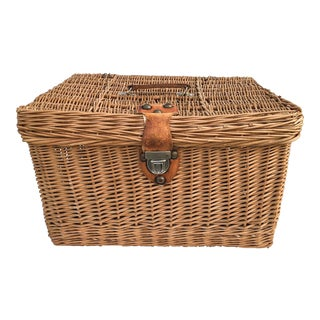 Vintage English Hamper Storage Basket